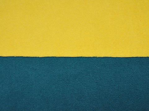 Dubbel Fleece - gul/grön