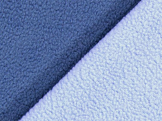 Dubbel Fleece - mörkblå/ljusblå
