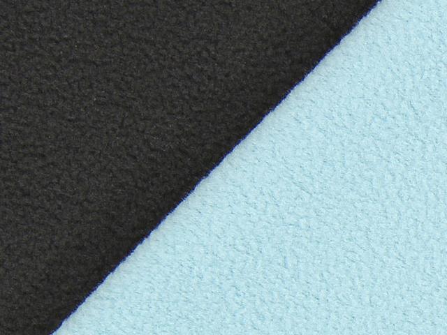 Dubbel Fleece - brun/mintblå