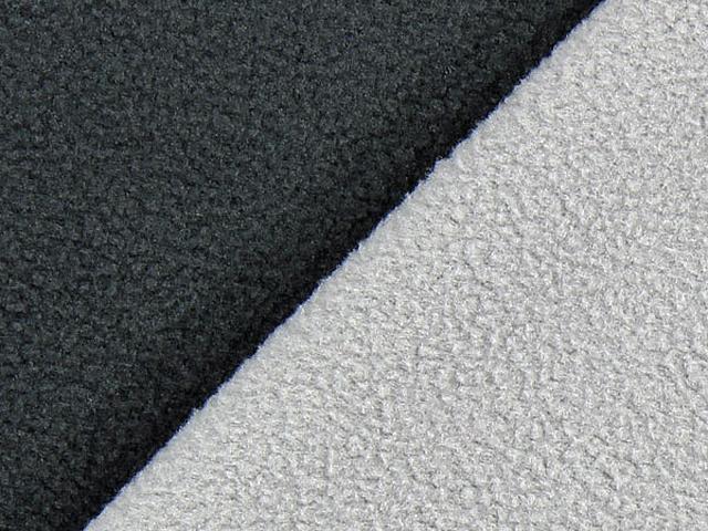 Dubbel Fleece - mörgrå/ljusgrå