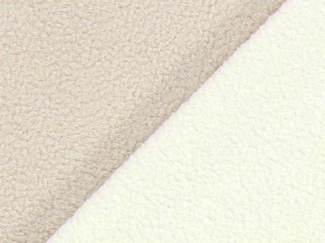 Dubbel Fleece - beige/vit