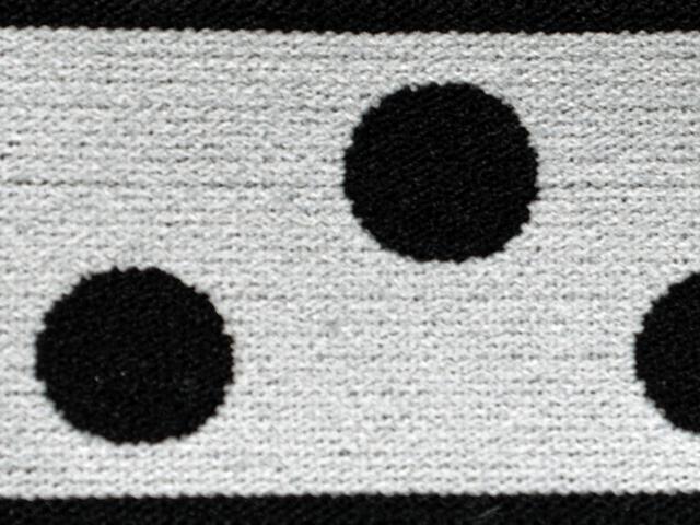 3) Vit/svarta prickor