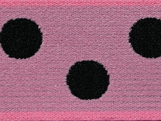 4) Rosa/svarta prickor