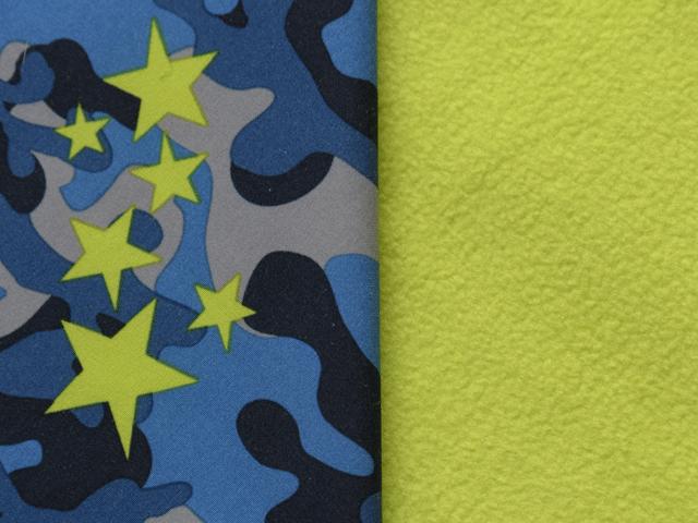 Softshell - Blue/Lime