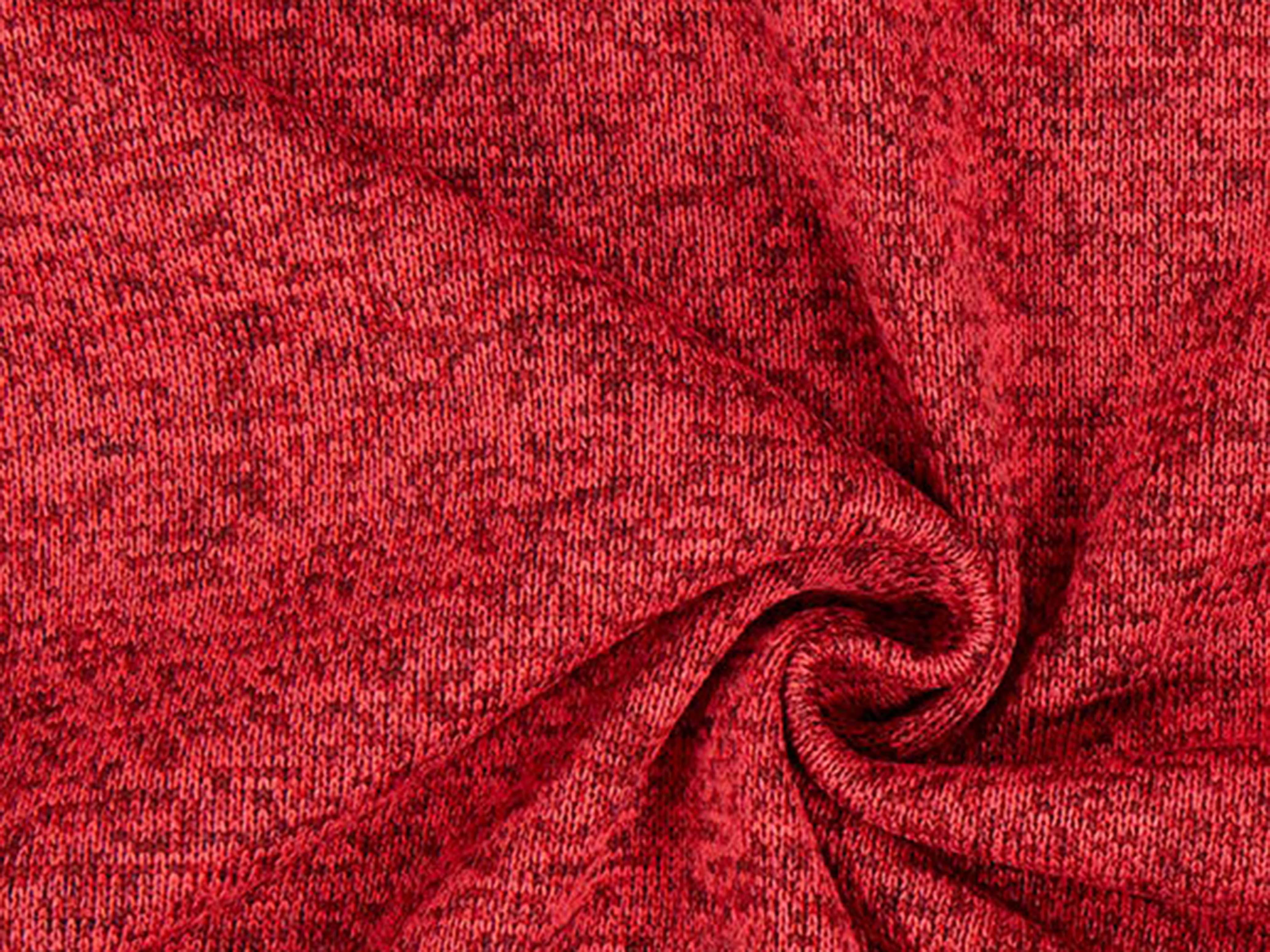 Trikå Fleece - röd